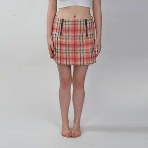 Nasty Gal Glamorous Pink Plaid Skirt